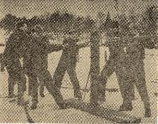 Shamans varvsområde Från vänster Whille Karlsson, Per Adolfsson Helge Hammarsson, Edgar Adolfsson
