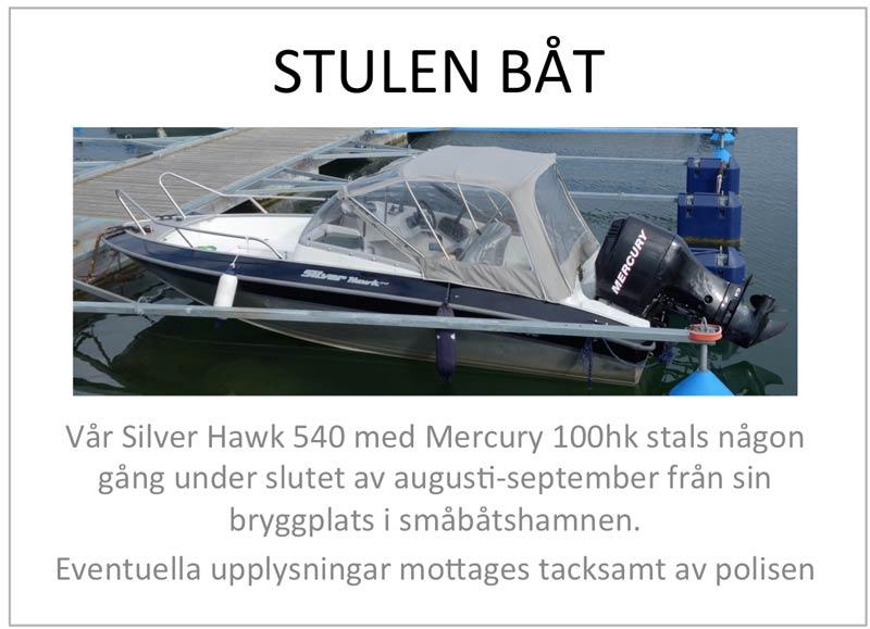 Efterlysning - Stulen båt i Nynäshamn!